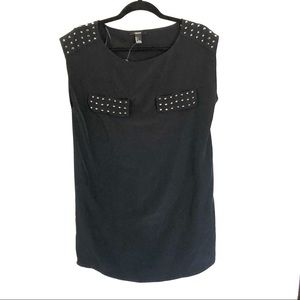 Studded black dress
